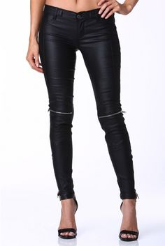 Bad Ass Brooke Zip Knee Pants in Black | Necessary Clothing