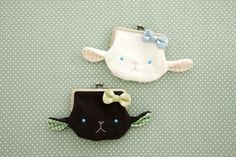 These are adorable! Japan Bag, Cute Coin Purse, Animal Bag, Frame Purse, House Quilts, Kids Corner, Kids Bags, Cute Bags, Diy Projects To Try
