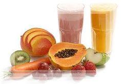 Vitamina de frutas.