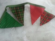 Green tartan bunting available from Bella and the Moo.