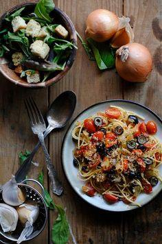 : Cauliflower Pasta with Pecorino, Grated Egg and Pine Nuts : Pasta ...