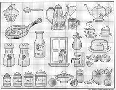 Kitchen  Motifs 1 - motivos para copa e cozinha em ponto cruz.