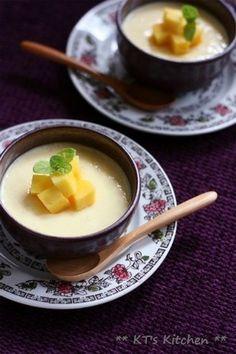マンゴーとグリークヨーグルトのプリン|レシピブログ