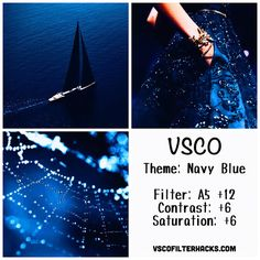 Navy Blue Instagram Feed Using VSCO Filter A5