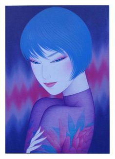 Ichiro Tsuruta is a Japanese visual artist, was born in 1954 in the city of Hondo in Kumamoto Prefecture, Ichiro Tsuruta grew up in Kyushu's Amakusa Region, Japan. Kumamoto, Japanese Drawings, Japanese Artists, Amakusa, Love Illustration, Japan Art, Elements Of Art, Oriental, Art Sketchbook