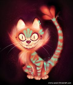 Evil Cheshire Cat   Cheshire cat by = Static-ghost