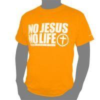 No Jesus No Life Tシャツ - ゴスペルグッズのセレクトショップ Art of God