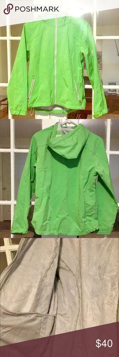 Green soft shell Jacket Lime green soft shell jacket in like new condition Black Diamond Jackets & Coats
