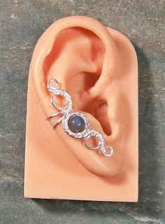 Labradorite & Silver  Ear Cuff  Medium by HeatherJordanJewelry, $17.99