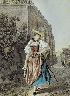 Fille au Bain ou Paysanne galante du Canton de Berne, 1791 Gabriel Lory (aka Lory père)
