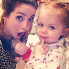 Zoella and Baby Glitter