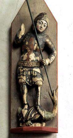 S:t George Hamra, region of Gotland, Sweden.  Made in Sweden ca. 1400