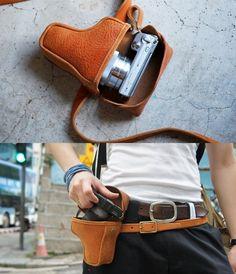 Leather Camera Hip Bag
