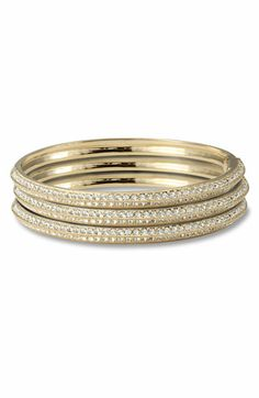 Nadri Pavé Bangle available at #Nordstrom I Love bangles that #bling and will wear them anytime, anywhere!