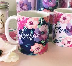 Check out the deal on Floral Coffee Mugs at Wedding Favorites | Unique Wedding Favors | Baby Shower Favors | Bridal Shower Favors