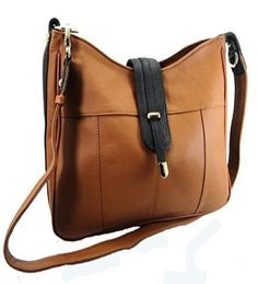 Concealed Carry Gun Purse Shoulder/Crossbody Left/Right Hand CCW LIGHT BROWN  #RomaLeathers #Hobo