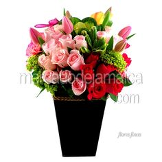Arreglo Rosas y Tulipanes Fioreli !| Envia Flores