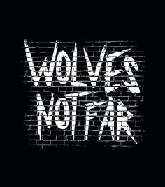 """Wolves Not Far"" black t-shirt.  Because worrying about zombies wasn't bad enough... Graphic tees for men, women and kids."