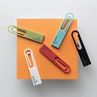 [News] Fourth collaboration line with design office nendo! Release of USB flash drives with superb security function, in unique designs resembling paper clips and carabiner hooks
