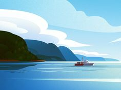 Landscape study designed by Ana Miminoshvili. Connect with them on Dribbble; the global community for designers and creative professionals. Landscape Illustration, Flat Illustration, Illustrations, Graphic Design Illustration, Restaurant Icon, Study Design, Arte Pop, Saint Charles, Travel Themes
