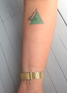 Tattoo Origami bird geometric graphic