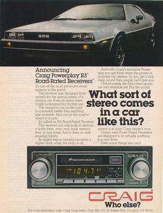 1980's Advertisement for the Delorean DMC-12