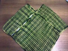 poncho a telar en lana natural