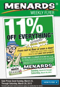 Menards deals this weekly