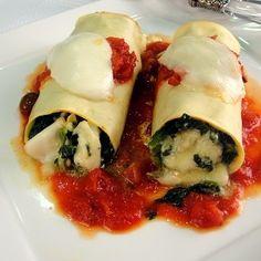 Κανελόνια με φρέσκια Dirollo Mozzarella & σπανάκι | Shape.gr