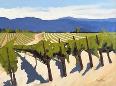 Plein air study for the vineyard painting
