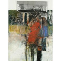 Henry Jackson, oil, dry pigment, cold wax, collage graphite on paper