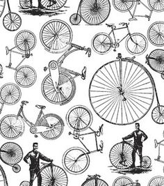 Novelty Quilt Fabric- Victoria Bicycles: novelty quilt fabric: quilting fabric & kits: fabric: Shop | Joann.com
