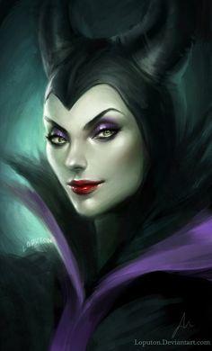 Maleficent by Loputon @ Deviantart