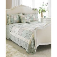 Paoletti Avignon Cotton Bedding Set in Duck Egg Blue – Next Day Delivery Paoletti Avignon Cotton Bedding Set in Duck Egg Blue from WorldStores: Everything For The Home Cotton Bedding Sets, Duvet Sets, Shabby Chic, Velvet Bedspread, Blue Bedspread, Blue Bedding, Quilted Bedspreads, Duck Egg Blue, Home Additions