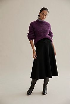 Shop Women's Knitwear at Country Road. All new season styles and colours are available in store and online now. Travel Wardrobe, Short Trip, Knit Cardigan, Knitwear, Midi Skirt, Warm, Knitting, Winter, Skirts
