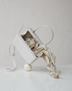 Sculptural forms from Jil Sander #ss19 Jil Sander, White Spirit, Get Dressed, Sculpture, Running, Instagram, Shoes, Minimal, Concept