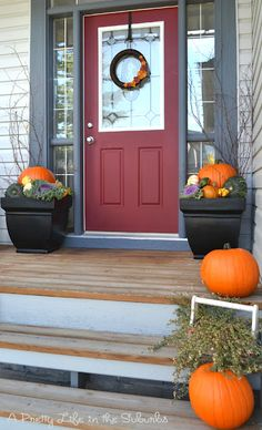 Pretty pots for the porch :)