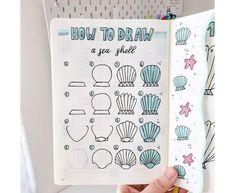 Doodle Drawings, Doodle Art, Easy Drawings, Doodle Ideas, Bullet Journal Notebook, Bullet Journal Inspiration, Journal Art, Journal Ideas, Dibujos Zentangle Art