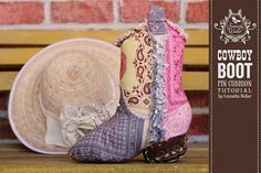 "Riley Blake Designs -- Cutting Corners: ""Best Smelling Boot in the West"" Pin Cushion..tutorial"