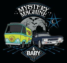 Mystery machine and Baby  Scooby Doo crossover