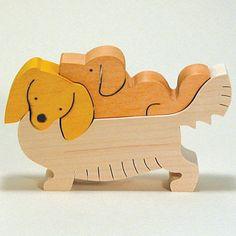 組み木 木のおもちゃ 『遊プラン』 KA734 | ダックスフンドミニチュアロング・MC