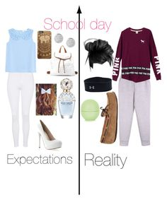 """""""Expectations V.S Reality- School day"""" by anna852281forever ❤ liked on Polyvore"""