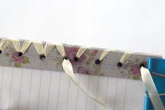 Handmade Notebook - May Arts Wholesale Ribbon Company - great tutorial!