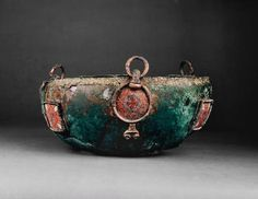 Chaudron de Sutton Hoo. Anglo-Saxon