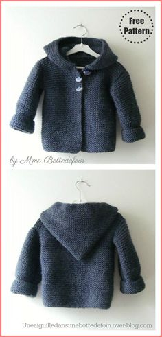 Cardigan Bebe, Knitted Baby Cardigan, Knit Baby Sweaters, Knitted Baby Clothes, Baby Knits, Baby Jumper, Knit Beanie, Knitted Hats, Knitted Animals