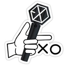 Exo Stickers, Tumblr Stickers, Printable Stickers, Cute Stickers, Lightstick Exo, Kpop Exo, Sehun, Sticker Design, Logo Sticker
