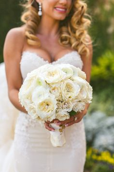 Chic White Wedding, Bridal Bouquet| Bella Collina | Concept Photography | Vangie's Events of Distinction