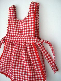 not so into the gingham but this is kind of what i did for the last one. thinking that this is an improvement though b/c it has that nice gathered skirt under the waistband. I want to do something like this but adding ruffles to the sides. Red Riding Hood Costume, Costume Patterns, Heirloom Sewing, Pinafore Dress, Gathered Skirt, Gingham, Looks Great, Nanny Activities, Dress Up