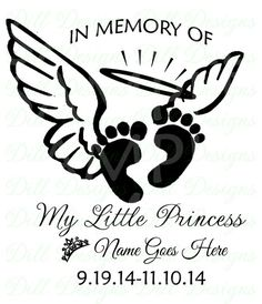 Prince & Princess In Loving Memory Infant Loss My Little Princess Feet SVG Sticker Decal Car Decal Wings Infant Loss Keepsake Car Truck SUV by PickledDesigns on Etsy Baby Feet Tattoos, Daddy Tattoos, Baby Name Tattoos, Baby Engel Tattoo, Tattoo Baby, Tiny Tattoo, Baby Memorial Tattoos, Miscarriage Tattoo, Loss Tattoo