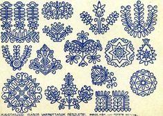 petitepointplace: Czech Batik Egg Patterns